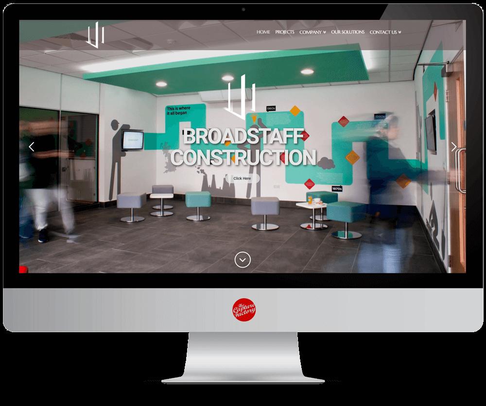 Broadstaff Construction Website Design