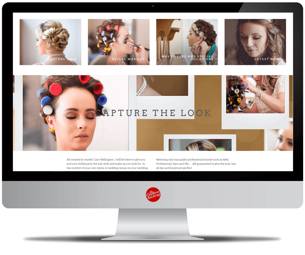 hair and makeup website and photography