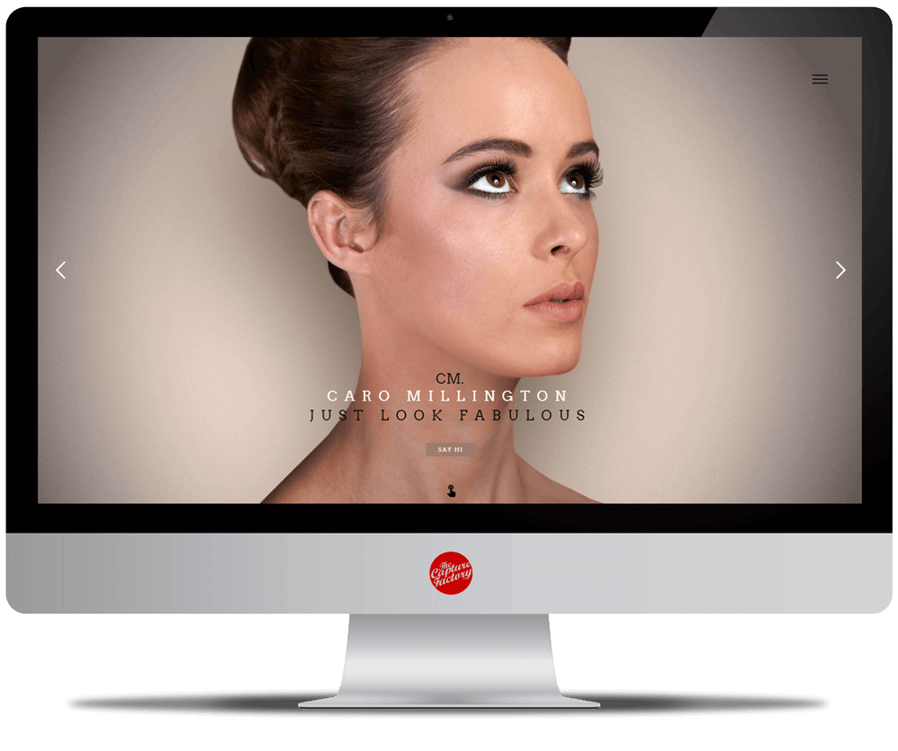 Hair and Makeup Website Photography
