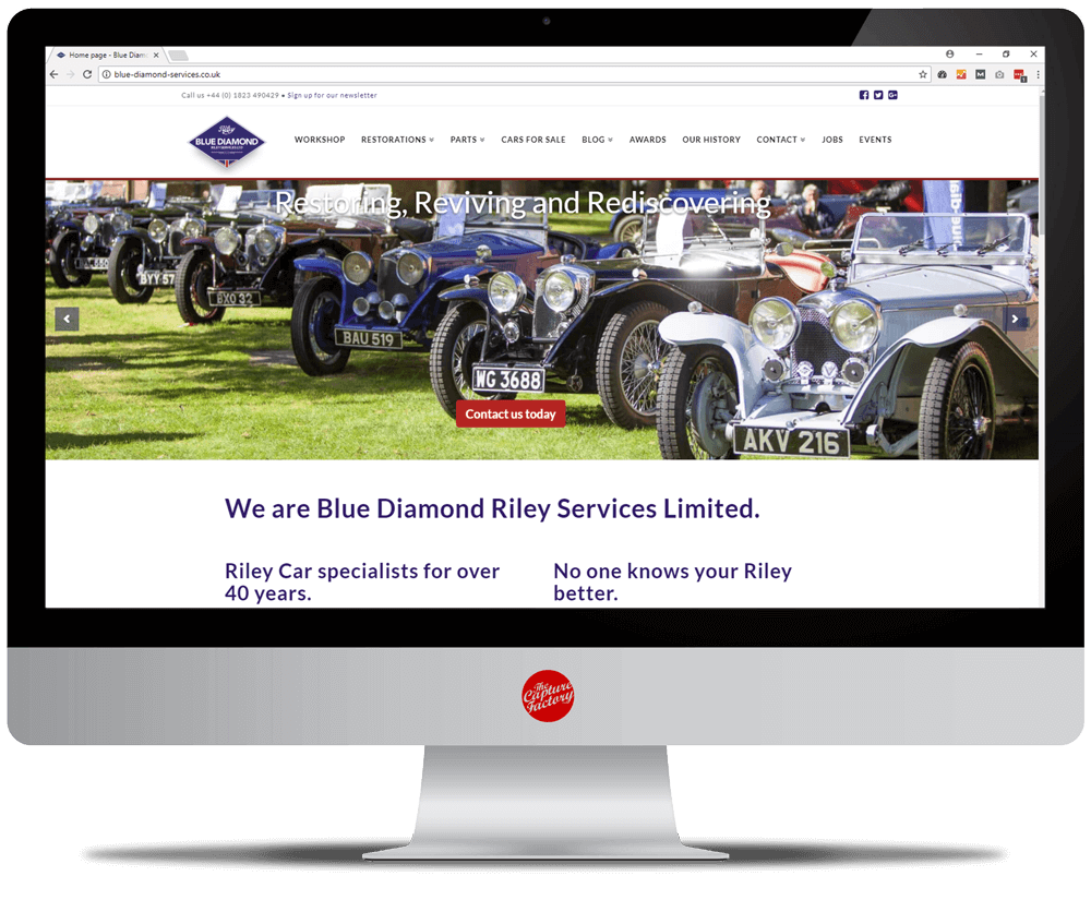 Blue Diamond Riley Services & The MG Automobile Company
