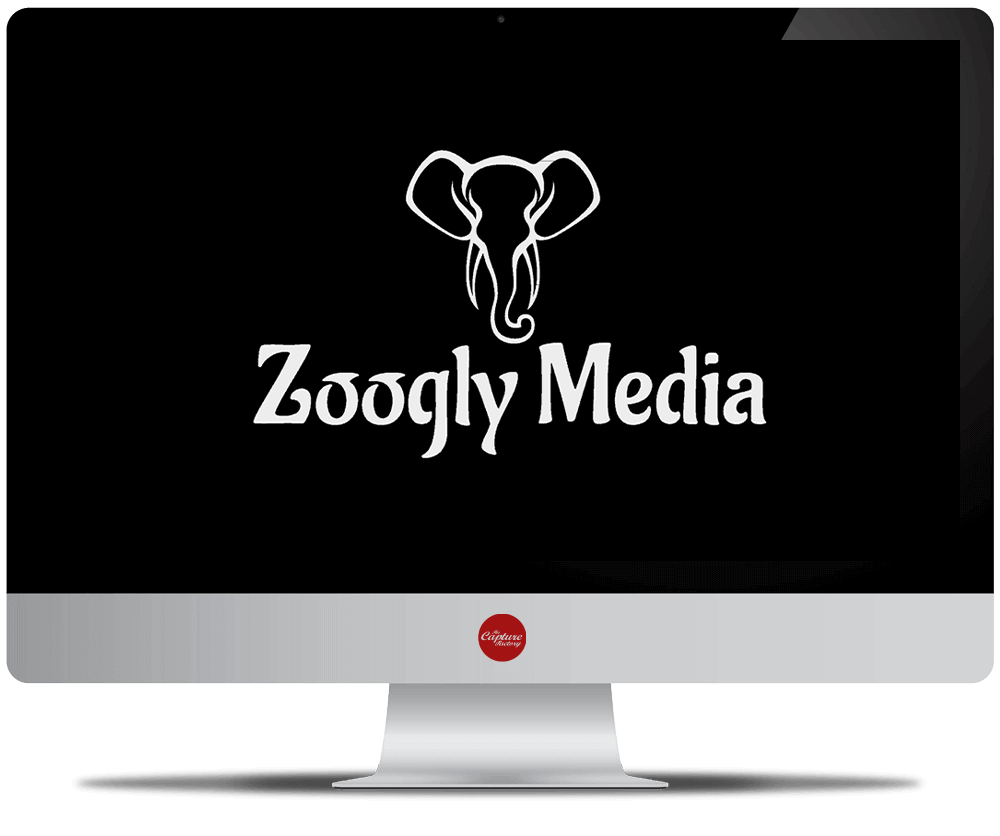 Zoogly Media logo on a screen